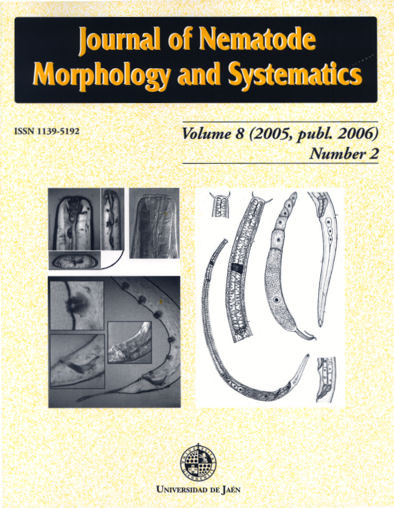 View Vol. 8 No. 1 (2005): Journal of Nematode Morphology and Systematics