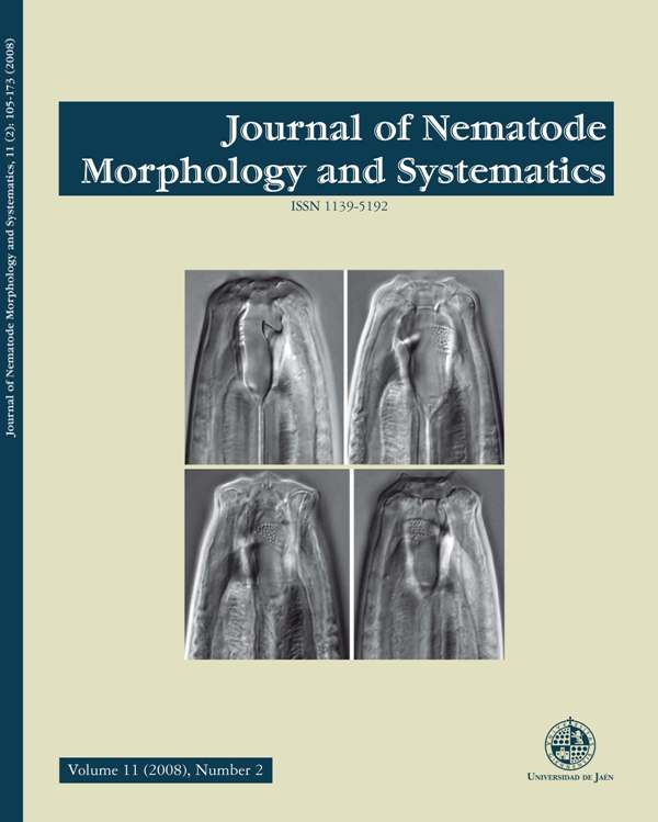 International journal devoted to the publication of original papers concerning different aspects of morphology and systematics, plant-parasite, arthropod-parasite and vertebrate-parasite nematodes.