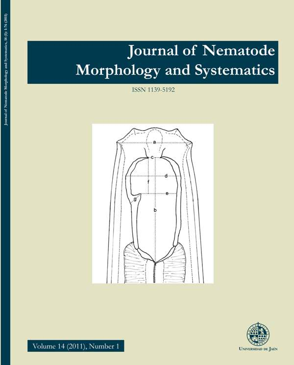 View Vol. 14 No. 1 (2011): Journal of Nematode Morphology and Systematics
